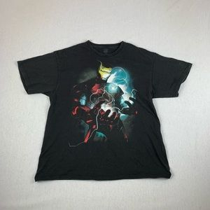 Vintage Marvel Comics Iron Man Black T-Shirt XL